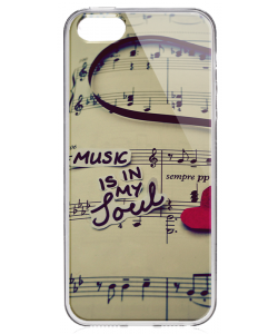 Soul Music - iPhone 5/5S Carcasa Transparenta Plastic