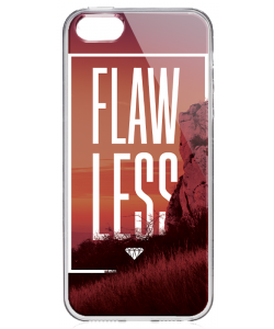 Flawless - iPhone 5/5S/SE Carcasa Transparenta Silicon