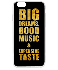 Good Music Black - iPhone 6 Carcasa Transparenta Silicon
