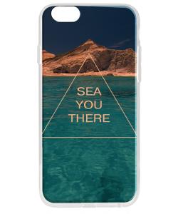 Sea You There - iPhone 6 Carcasa Transparenta Silicon