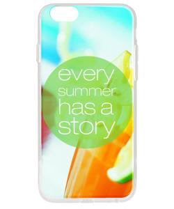 Summer Story - iPhone 6 Carcasa Transparenta Silicon