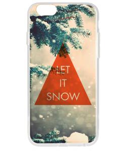 Let it Snow - iPhone 6 Carcasa Transparenta Silicon