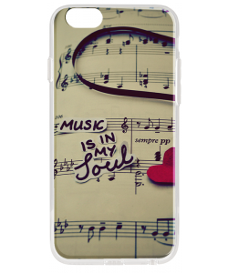 Soul Music - iPhone 6 Plus Carcasa Transparenta Silicon
