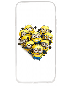 Minions Crew - iPhone 6 Plus Carcasa Transparenta Silicon