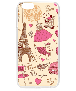 France - iPhone 6 Plus Carcasa Plastic Premium