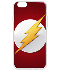 Flash Logo - iPhone 6 Plus Carcasa Transparenta Silicon