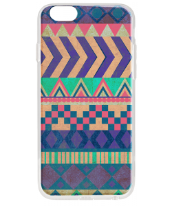 Tribal Pastel - iPhone 6 Plus Carcasa Transparenta Silicon