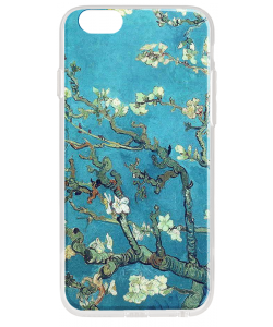 Van Gogh - Branches with Almond Blossom - iPhone 6 Plus Carcasa Transparenta Silicon