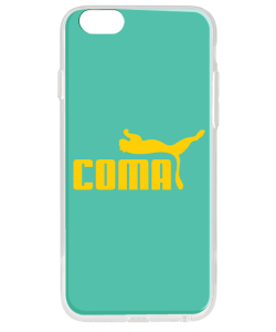 Coma - iPhone 6 Plus Carcasa Transparenta Silicon
