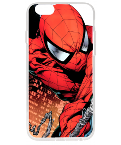 Spiderman - iPhone 6 Plus Carcasa Transparenta Silicon