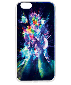 Explosive Thoughts - iPhone 6 Plus Carcasa Transparenta Silicon