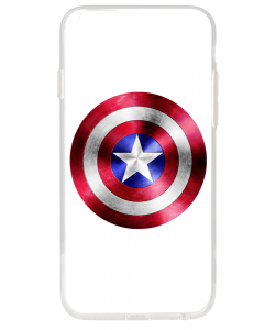 Captain America Logo - iPhone 6 Plus Carcasa Transparenta Silicon