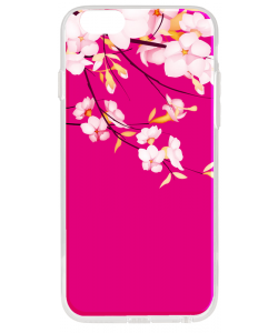 Cherry Blossom - iPhone 6 Plus Carcasa Transparenta Silicon