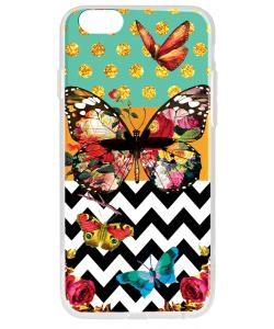 Butterfly Contrast - iPhone 6 Plus Carcasa Plastic Premium