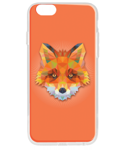 Origami Fox - iPhone 6 Plus Carcasa Transparenta Silicon