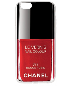 Chanel Rouge Rubis Nail Polish - iPhone 6 Carcasa Fumurie Silicon