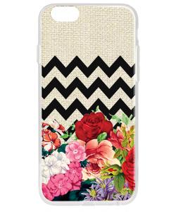 Floral Contrast - iPhone 6 Plus Carcasa Plastic Premium