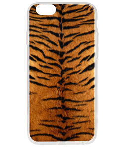 Tiger Fur - iPhone 6 Plus Carcasa Transparenta Silicon