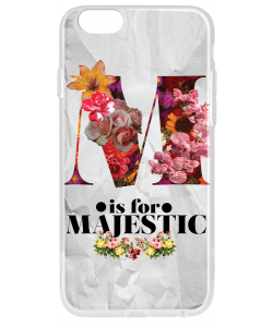 M is for Majestic 2 - iPhone 6 Carcasa Transparenta Silicon