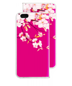 Cherry Blossom - iPhone 6 Husa Book Alba Piele Eco
