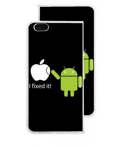 I fixed it - iPhone 6 Husa Book Alba Piele Eco