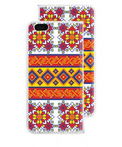 Brau - iPhone 6 Husa Book Alba Piele Eco
