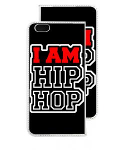 I am Hip Hop - iPhone 6 Husa Book Alba Piele Eco