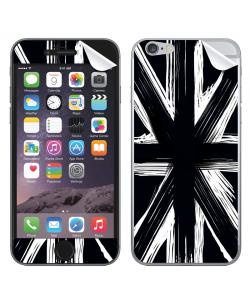 Black UK Flag - iPhone 6 Skin