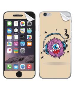 Fluffy Headphones - iPhone 6 Plus Skin