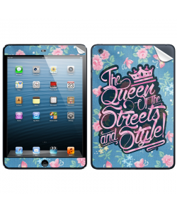 Queen of the Streets - Floral Blue - Apple iPad Mini Skin