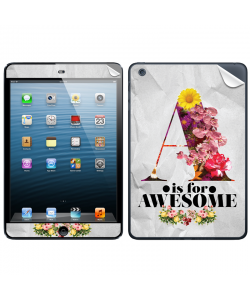 A is for Awesome - Apple iPad Mini Skin