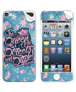 Queen of the Streets - Floral Blue - Apple iPod Touch 5th Gen Skin