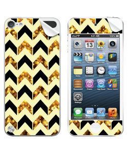 Black & Gold -  Apple iPod Touch 5th Gen Skin
