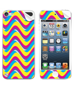 CMYK Waves - Apple iPod Touch 5th Gen Skin