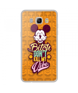 Bitch Don't Kill My Vibe - Obey - Samsung Galaxy J7 Carcasa Silicon Transparent