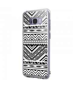 Tribal Black & White - Samsung Galaxy S8 Carcasa Premium Silicon