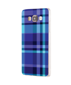 Blue Plaid - Samsung Galaxy J5 Carcasa Silicon