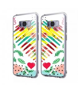 Tread Softly Heart - Samsung Galaxy S8 Carcasa Transparenta Silicon
