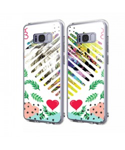Unicorns and Fantasies Heart - Samsung Galaxy S8 Plus Carcasa Transparenta Silicon