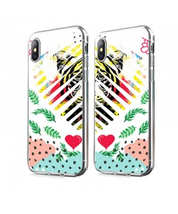 In the Jungle Heart - iPhone X Carcasa Transparenta Silicon