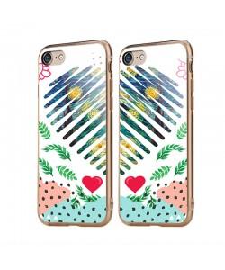 Van Gogh - Starry Night Heart - iPhone 6/6S Carcasa Transparenta Silicon
