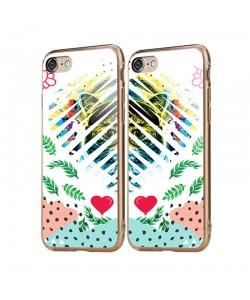 Hipster Meow Heart - iPhone 6/6S Carcasa Transparenta Silicon