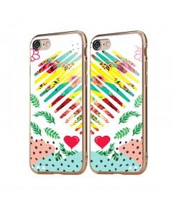 Tread Softly Heart - iPhone 6/6S Carcasa Transparenta Silicon
