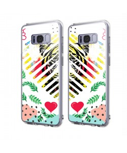 In the Jungle Heart - Samsung Galaxy S8 Carcasa Transparenta Silicon