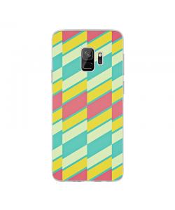 Candy Stripes - Samsung Galaxy S9 Carcasa Transparenta Silicon
