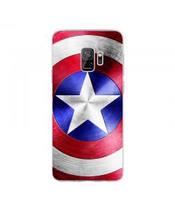 Captain America Logo - Samsung Galaxy S9 Plus Carcasa Transparenta silicon
