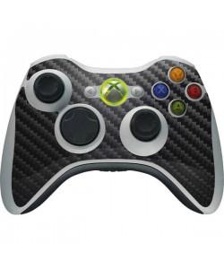 Fibra Carbon Neagra - Xbox 360 Wireless Controller Skin
