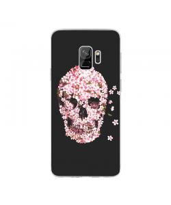 Cherry Blossom Skull - Samsung Galaxy S9 Carcasa Transparenta Silicon