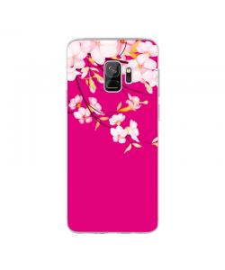 Cherry Blossom - Samsung Galaxy S9 Carcasa Transparenta Silicon