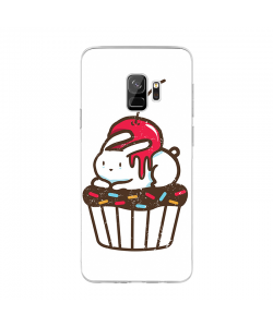 Cherry Bunny - Samsung Galaxy S9 Carcasa Transparenta Silicon